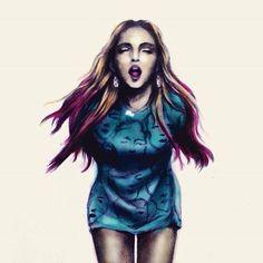 #Madonna #BitchImMadonna #moschino #sketch #watercolor by @mr0707 @Amen_Madonna  @QueenMDNAfans  @Escucha9  @fr_lola