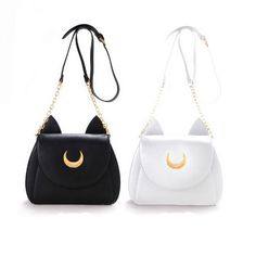 6167caacdc 2015 girl kawaii cute samantha vega Sailor Moon LUNA leather cat shoulder  messenger crossbody Satchel bag