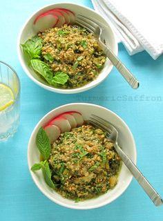 Naz Khatoon – Persian Eggplant & Herb Salad with Walnuts & Verjuice