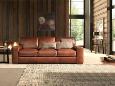 Choosing A Leather Sofa. Improve your interior decor with a brand new sofa. With so many designs to pick from choosing the right sofa can be difficult. It is always wise to take a look at a few choices before choosing a sofa. Brown Leather Sofa Bed, Best Leather Sofa, Leather Furniture, Sofa Furniture, Coaster Furniture, Furniture Stores, Quality Furniture, Furniture Design, Outdoor Furniture