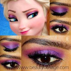 wonderful Frozen snow princess Elsa eye makeup - 2014 Halloween, tutorial #2014 #Halloween