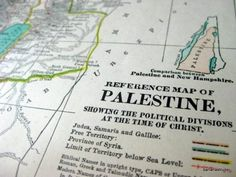 1902 Map of Palestine, available on etsy