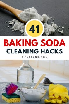 Know these 41 easy baking soda cleaning hacks. You won't be needing expensive cleaning products if you start using baking soda for cleaning purposes. It also can be used as a deodorizer. Let's see what few baking soda cleaning hacks that you can apply today are. #home #hacks #cleaning #homehacks #DIY #WhatIsBakingSodaUsedForInCleaning Baking Soda For Cooking, Baking Powder For Cleaning, What Is Baking Soda, Baking Soda For Skin, Baking Soda Beauty Uses, Baking Soda Health, Baking Soda On Carpet, Baking Soda Baking Powder, Baking Soda Shampoo
