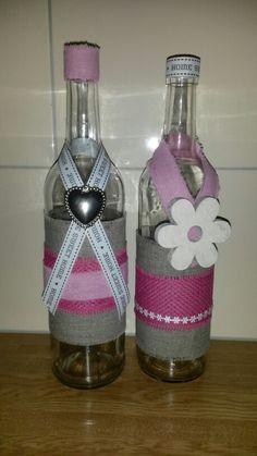 Rosé flessen