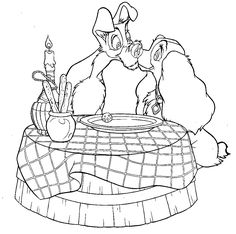 VALENTINE COLORING PAGE - nwaahhh - DISNEY COLORING PAGES