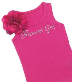 Flower Girl T-Shirt with Removable Silk Flower | #exclusivelyweddings | #flowergirlgifts