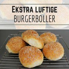 Super luftige burgerboller, der løfter den hjemmelavede burger til helt nye højder.