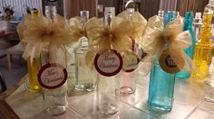 Decorated bottles for Coquito. Great gifts!!