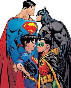 #batman #superman #robin #superboy #vs #dc #dccomics #dcuniverse