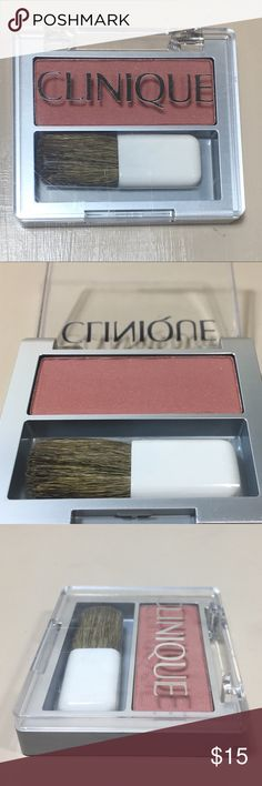 Clinique Blush Fig Pressed Powder Blusher Clinique Fig Blush Soft-Pressed Powder Blusher. New, Never Used, .07oz / 2g, sample or travel size.  m011 Clinique Makeup Blush