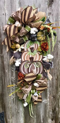 Fall Swag, Fall Wreath, Pumpkin Wreath, Pumpkin Swag, Thanksgiving Wreath, Thanksgiving Decor, Pumpkin Decor, Fall Decor by HolidayBaublesWreath on Etsy https://www.etsy.com/listing/549772021/fall-swag-fall-wreath-pumpkin-wreath