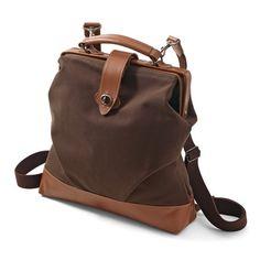 Felissimo Selection[フェリシモセレクション]|【数量限定】帆布×レザー まるでお父さんからのお下がり鞄 2ウェイ ダレスバッグ(栗/くり色)|フェリシモ