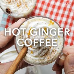Hot Ginger Coffee - Getränke, Smoothies and Shakes - Coffee Yummy Drinks, Healthy Drinks, Yummy Food, Tasty, Ginger Coffee, Hallowen Food, Cocina Natural, Food Porn, Coffee Drinks