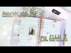 My Kikki K Planner ♥ Monthly & Weekly Set-up   Charmaine Dulak - YouTube