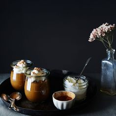 Coffee Pudding recipe on Just Desserts, Dessert Recipes, Fancy Desserts, Dessert Food, Mousse, Coffee Dessert, Mocca, Pudding Recipes, Chocolate Coffee