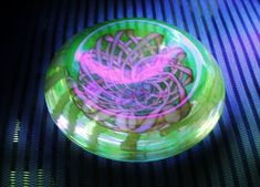 Mind Bending MURANO Vaseline Glass BOWL Galliano Ferro Nastro Richiamato SUPERB