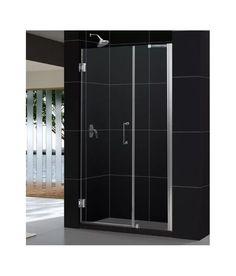 """DreamLine SHDR-20567210 Unidoor 72"""" High x 57"""" Wide Hinged Frameless Shower Door"""