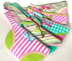 These panty bags make me smile. Love the details on them.