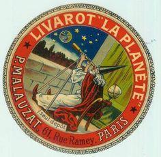antique livarot cheese label