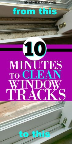 Clean Window Tracks | Cleaning Tips | Cleaning Hacks | Clean Windows | Cleaning via @www.pinterest.com/JenRoskamp