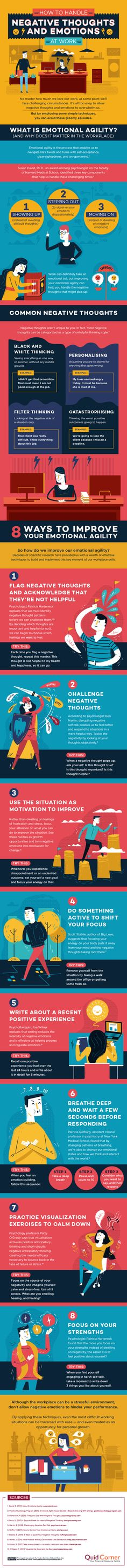 How to Handle Negative Thoughts and Emotions at Work - #infographic
