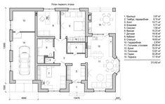 План этажа дома площадью более 200м2 Floor Plans, Floor Plan Drawing, House Floor Plans