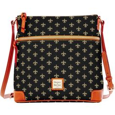 New Orleans Saints Dooney & Bourke Women's Crossbody Purse - Black - $188.00
