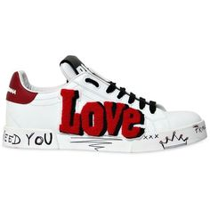 dolce and gabbana white sneakers shoes love