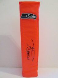 SOLD OUT! Russell Wilson signed Seattle Seahawks full size football touchdown end zone pylon w/ proof photo.  Proof photo of Russell signing will be included with your purchase along with a COA issued from Southwestconnection-Memorabilia, guaranteeing the item to pass authentication services from PSA/DNA or JSA. Free USPS shipping. www.AutographedwithProof.com is your one stop for autographed collectibles from Seattle sports teams. Check back with us often, as we are always obtaining new…