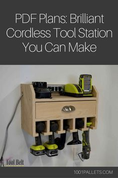 Properly organizing and storing our tools is something most of us strive for, but it's an ongoing process. That's why you have to check out this Brilliant Cordless Tool Station you can make from scrap wood!