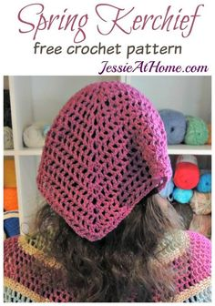 Crochet kerchief free pattern z crochet pinterest free spring kerchief free crochet pattern by jessie at home dt1010fo