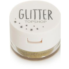 TOPSHOP Glitter Eyes in Sprinkles (245 UAH) ❤ liked on Polyvore featuring beauty products, makeup, eye makeup, beauty, accessories, cosmetics, fillers, gold, topshop and glitter cosmetics