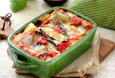 Vegetarian lasagna with 4 types of cheese is a delicious dish for which you need feta cheese, ricotta, mozzarella and parmesan.