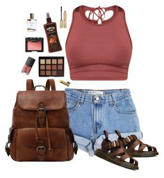 """""""Untitled #27"""" by ali-thegr8 ❤ liked on Polyvore featuring Levi's, Morphe, NARS Cosmetics, Stila, Bodhi and Dr. Martens"""