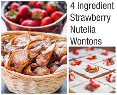 Strawberry Nutella Wonton