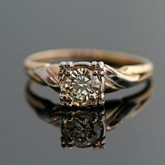 Vintage Diamond Engagement Ring  14k Yellow and by SITFineJewelry, $2325.00