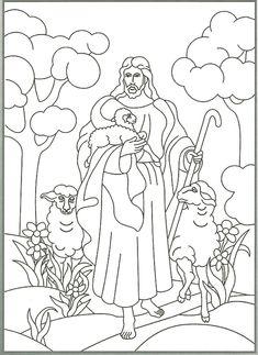 Psalm 23 in Bildern zum Ausmalen und Auswendiglernen