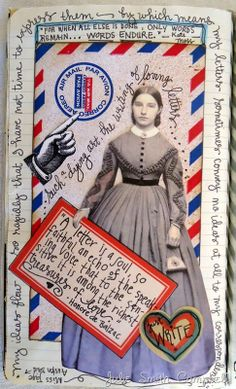 Letters.  A new page from one of my art journals.