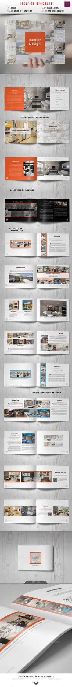 Interior Design Square 3-Fold Brochure V08 Brochures, Brochure - interior design brochure template