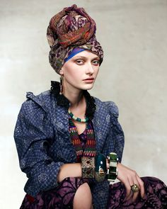 This stunning new lookbook from accessories designer Elke Kramer for her E L K E spring summer 2010-11