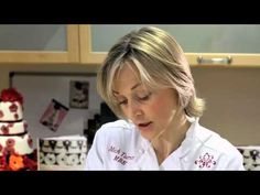 ▶ Mich Turner's Cake Masterclass part 1: Sugar paste rose - YouTube - so easy and pretty results.  Have to try this out with molding chocolate.