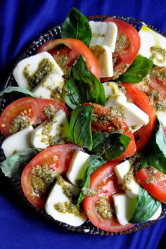 Caprese Salad with Pesto. I'm going to have to try this!