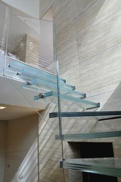 Glass staircase modern staircase