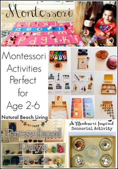 Montessori inspired activities in action, Checking out Montessori spaces and learning more about how you can incorporate Montessori into your days. Age 2-6