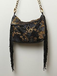 51b3146f2495 Washed Black Rosalie Stud Hobo by CECILIA DE BUCOURT for FREE PEOPLE
