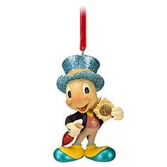 Disney Jiminy Cricket Sketchbook Ornament | Disney StoreJiminy Cricket Sketchbook Ornament - Let our ''Official Conscience'' Jiminy Cricket Ornament be your guide to the happiest of holidays. Like a bolt from the blue, glittering Jiminy and his golden badge will brighten the heart of the season.
