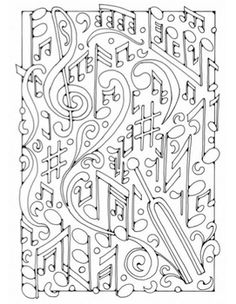 Music  Blanco Designs  Zentangles  Adult Colouring