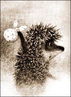 'Hedgehog in the fog' by artwork by Francesca Yarbusova