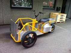 Trike Scooter, Tricycle Bike, Electric Trike, Electric Cars, Three Wheel Bicycle, Velo Cargo, Diy Go Kart, Reverse Trike, Drift Trike