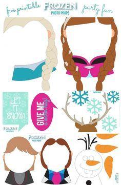 Precioso Photo Booth de Frozen para Imprimir Gratis.